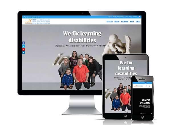 Responsive web design Dyslexia Oakville