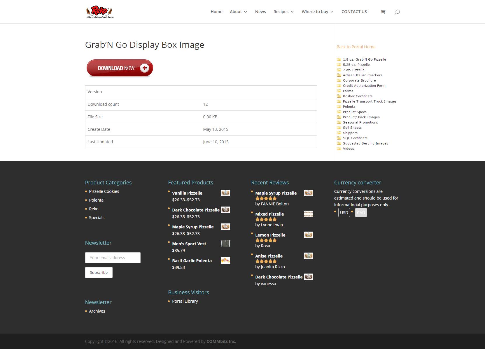 Custom web development, Documents library portal