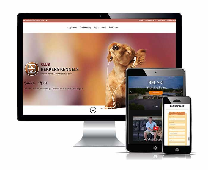 Club Bekkers Kennels responsive web design