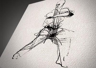 Martial Arts Drawings