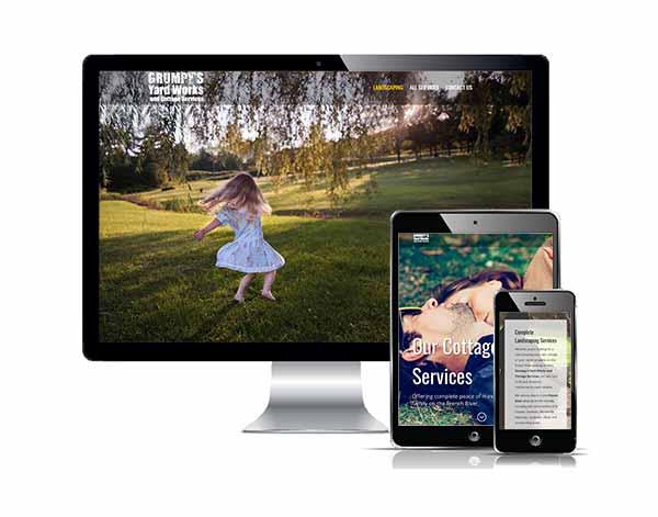Grumpys Yard Works Responsive web design
