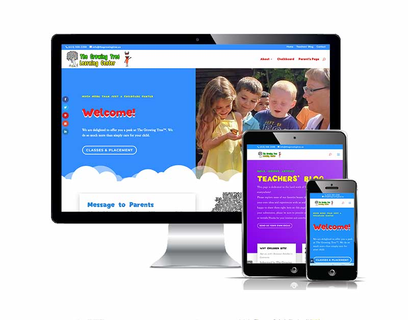 The Growing Tree Learning Center Responsive web design