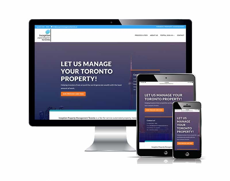 Inception Property Management Toronto Responsive web design