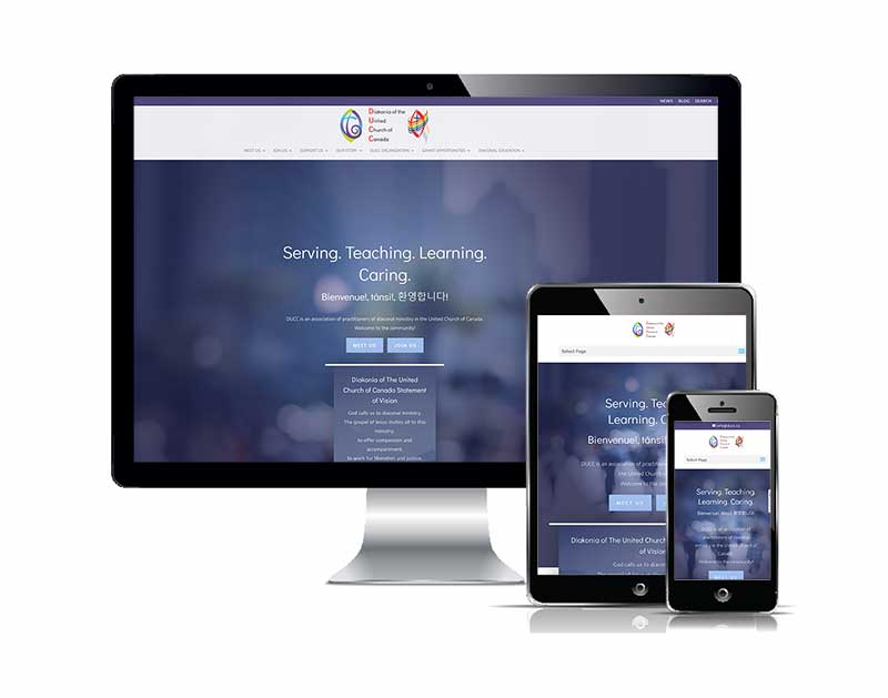 Diakonia of the United Church Canada Responsive design